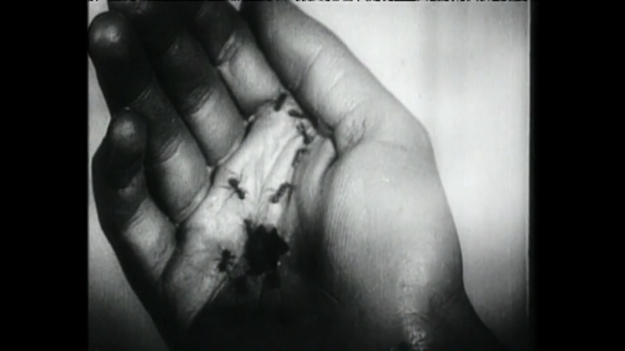 Figure 9. Still from Luis Buñuel and Salvador Dali's short film Un Chien Andalou (1929).