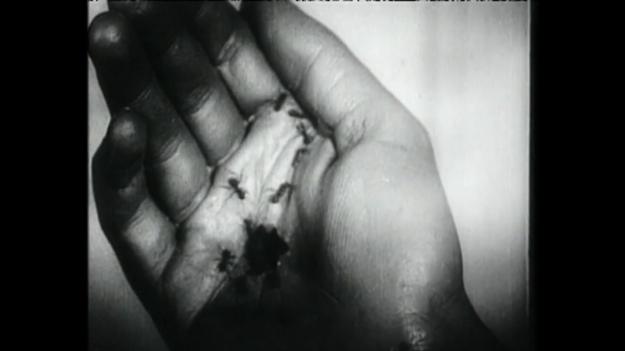 Figure 9. Still from Luis Buñuel and Salvador Dali's short film Un Chien Andalou (1929).